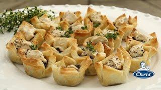 Mushroom and herb tartlets