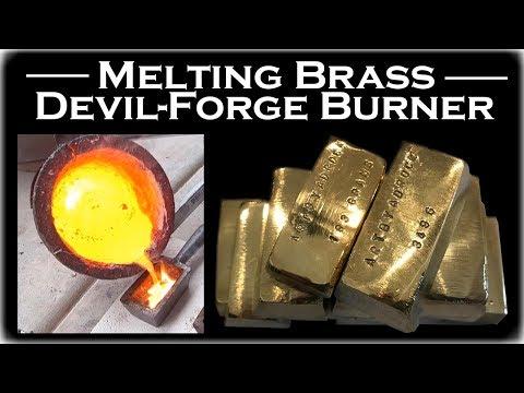 Bullets To Bullion! Brass Melting With A Devil-Forge Burner: Gold Bar Melting