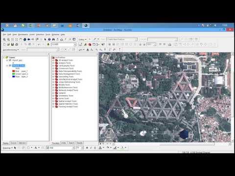 Cara  input data GPS ke ArcGIS