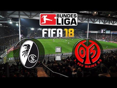 FIFA 18 Bundesliga Sport-Club Freiburg : 1. FSV Mainz 05 | Gameplay Deutsch Livestream