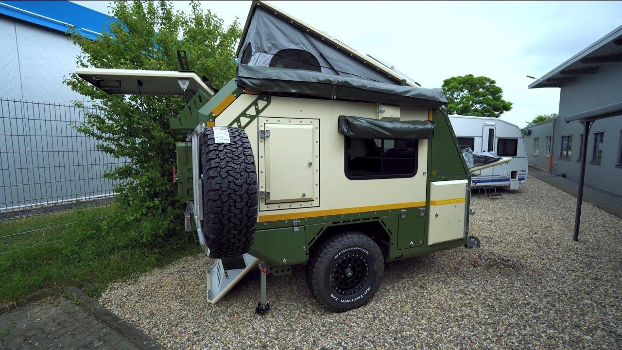 Welt-Kleinster Gelände-Wohnwagen: Crawler TRC 428 Offroad. Minimalismus! Komplett Alu 750kg. 5 Pers.