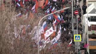 Тысячи людей на марше памяти Немцова 2017