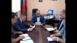 Встреча  А.Бирюлина с руководителями подрядных организаций