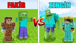 FAKİR'in ZOMBİSİ VS ZENGİN'in ZOMBİSİ! - MİNECRAFT