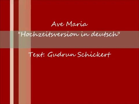 Ave Maria deutsch Hochzeitsversion - Hochzeitssängerin Kirstin Käfer