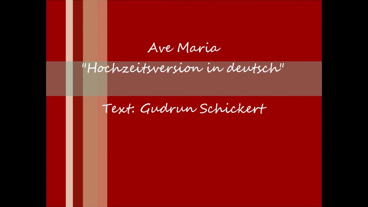 Ave Maria Deutsche Hochzeitsversion Hochzeitssangerin Kirstin Kafer Youtube