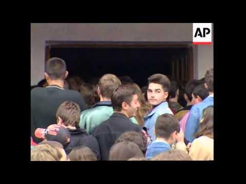 ALBANIA: TIRANA: SCHOOLS & UNIVERSITIES REOPEN