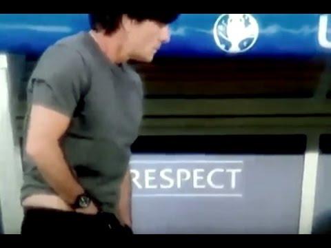 Euro 16 highlight: JOACHIM LOEW SNIFFS THE SWEAT FROM HIS BALLS