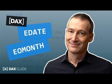 EDATE, EOMONTH - DAX Guide