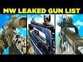 Call of Duty: Modern Warfare Weapons / Gun List Leaked...