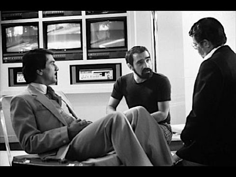Martin Scorsese, Robert De Niro, Jerry Lewis & Michael Powell on the set of THE KING OF COMEDY