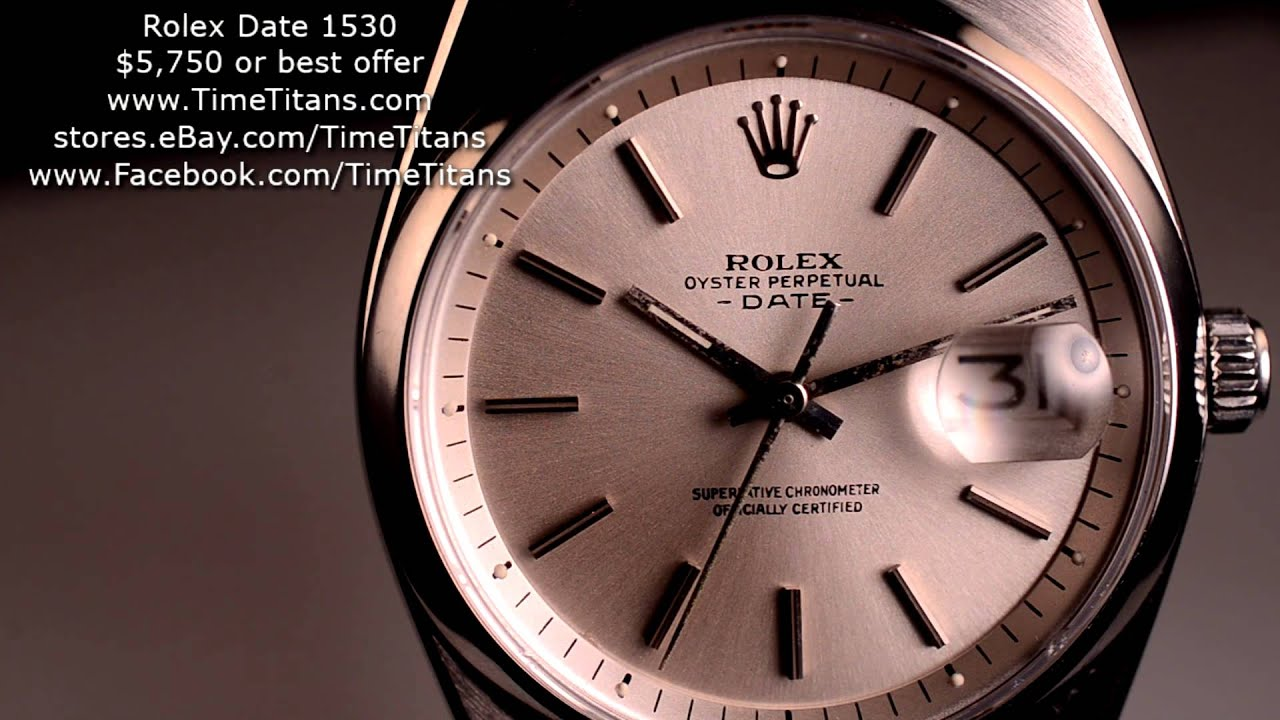 Rolex Date 1530 5 1 Million 1977 Caliber 1575 Rare Oyster Stainless Steel Cosc Chronometer