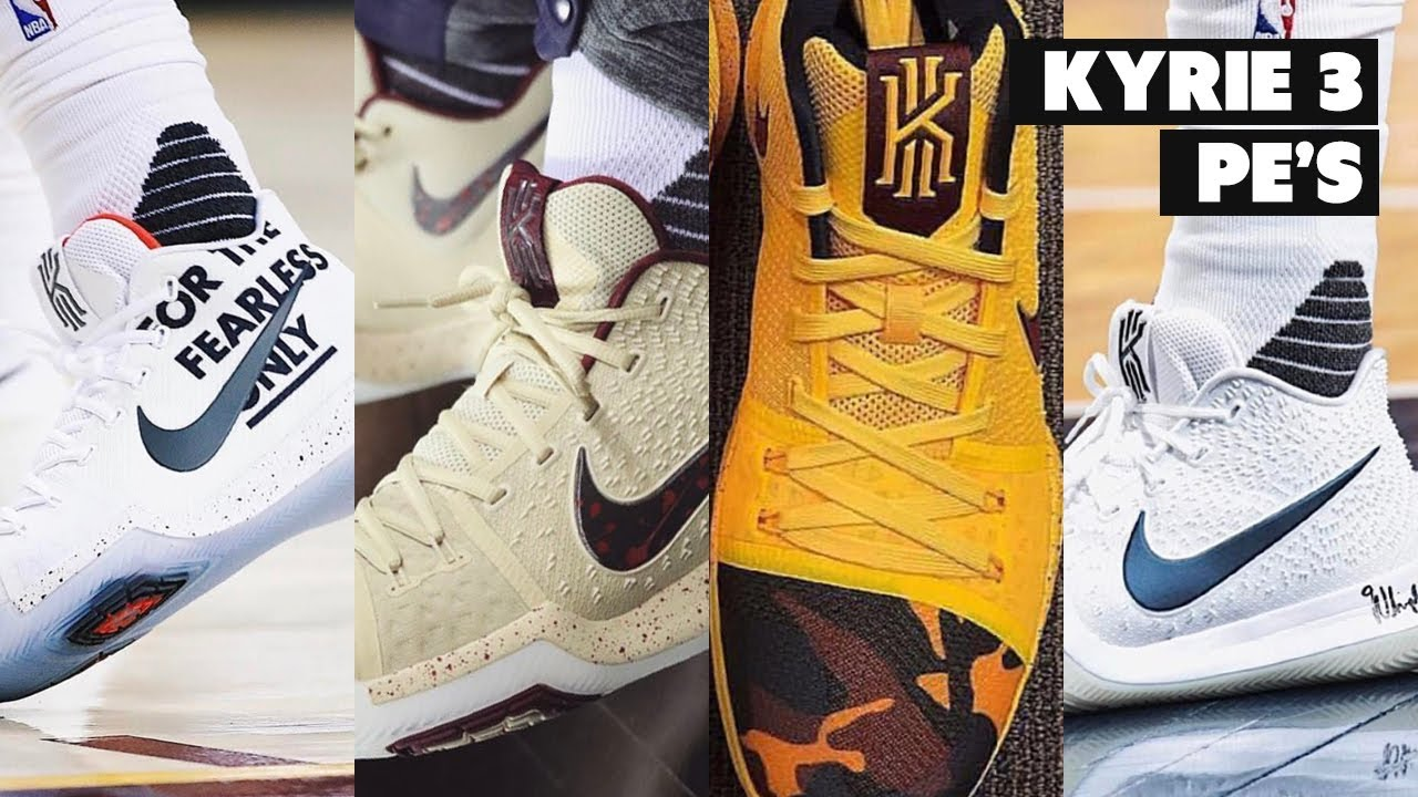 sports shoes b8727 7de7a Here's Every PE Kyrie Has Worn In The 2017 NBA Playoffs.. So Far