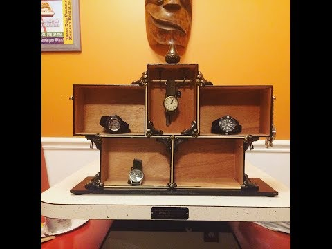DIY: Watch Display made from Cigar Boxes