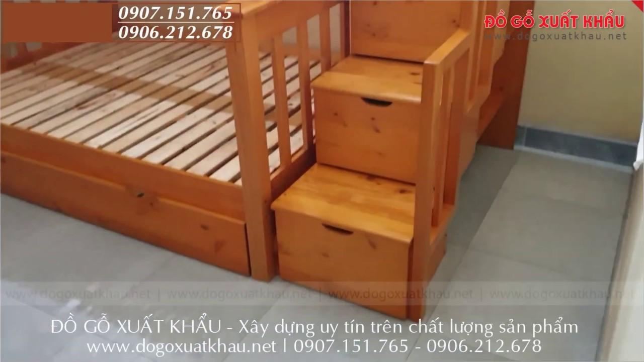 Giường 3 tầng cho trẻ em xuất khẩu rẻ đẹp gỗ tự nhiên tại ...