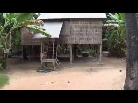 Short tour Cambodian village | Local life of Cambodian people | Kids play volleyball