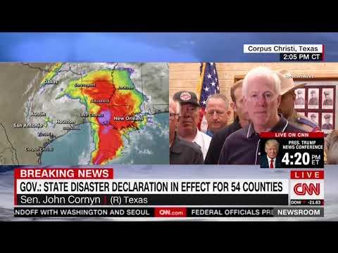 Cornyn Visits Coastal Bend Region, Surveys Damage from Harvey