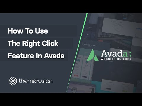 How to Use the Right Click Feature In Avada Video