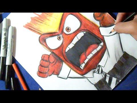 Cmo dibujar a Furia de INTENSAMENTE  How to draw Anger
