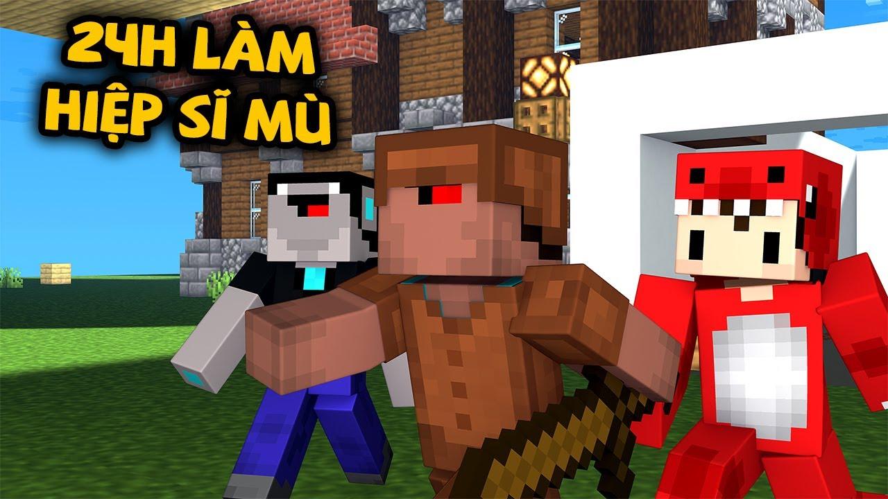 Rex Và Noob Công Nghệ Thử Thách 24h Làm Hiệp Sĩ Mù Trong Minecraft Và Cái Kết !!