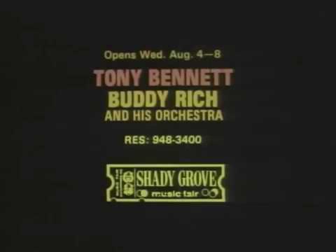1971 Tony Bennett and Buddy Rich at Shady Grove Music Fair TV Commercial