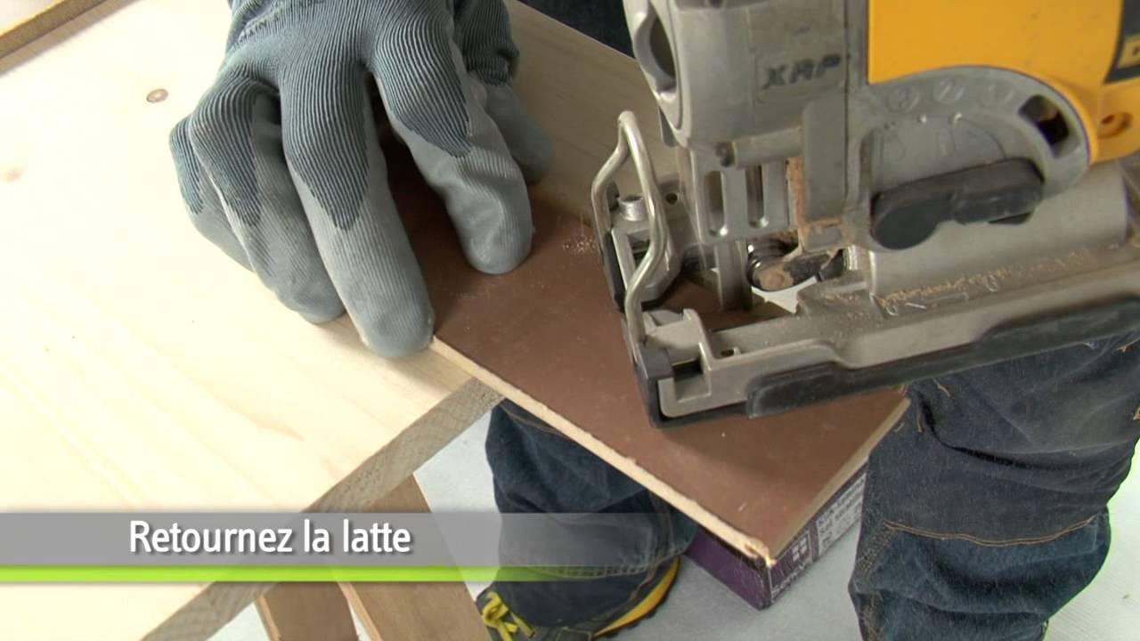 poser du parquet stratifi etape par tape bricolage youtube. Black Bedroom Furniture Sets. Home Design Ideas