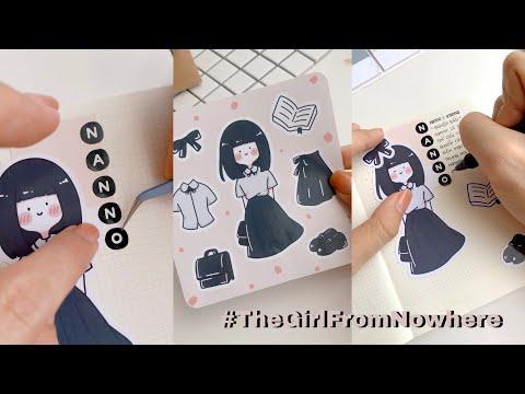 Trang Trí Sổ Với Sticker NANNO - Cô Gái Đến Từ Hư Vô // Happy Hidari #Shorts