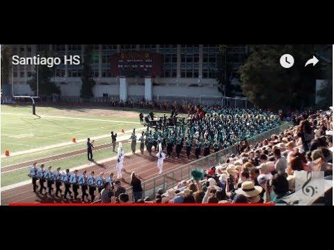 Santiago HS Sharks Marching Band - 2018 Pasadena Bandfest