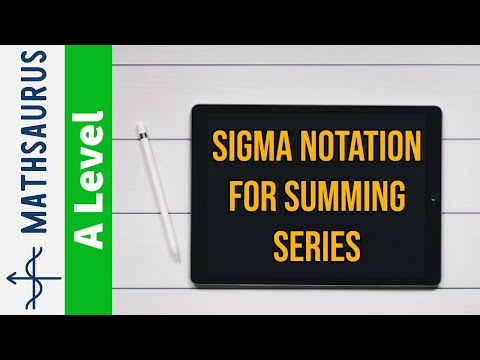 AS Maths - Sigma notation for summing series