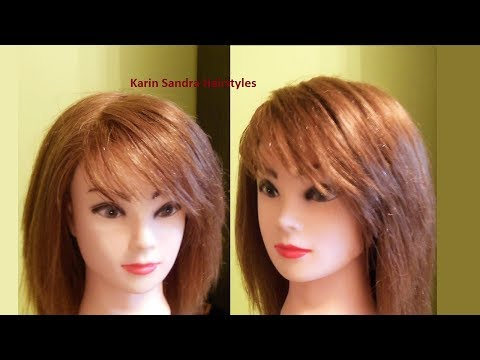Easy Side Bangs Haircut Tutorial