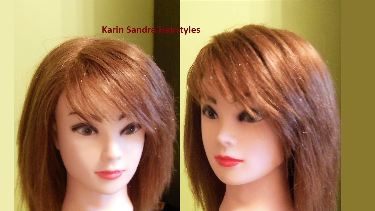Bangs Haircut On The Side Easy Side Bangs Haircut Tutorial How