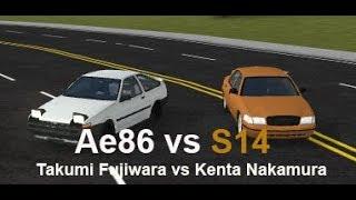 S14 vs Ae86 (Kenta Nakamura vs Takumi Fujiwara)   Roblox Initial D Remake #7