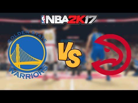 NBA 2K17 - Golden State Warriors vs. Atlanta Hawks - Full Gameplay