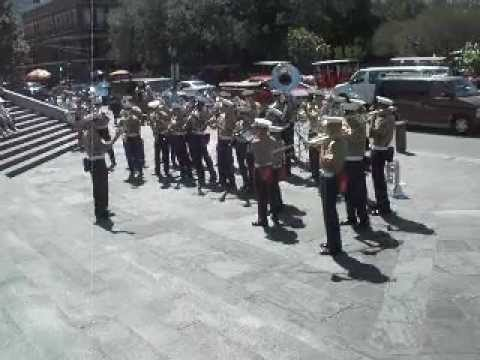 "US Marine New Orleans Band. Navy Week 2012 ""Bourbon Street Parade"""