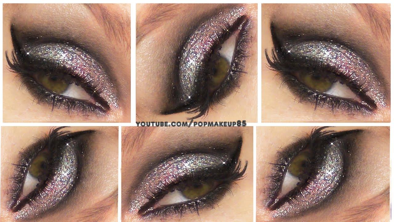 9d0cc828cc97 Makeup per Capodanno 2016 2017! Smokey Eyes Glitterato - YouTube