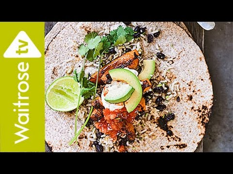 Spiced Squash Burritos | Waitrose