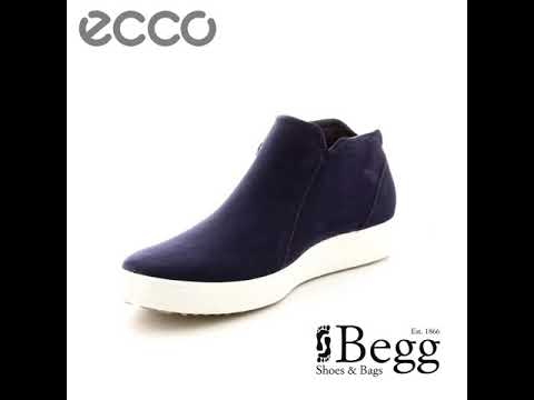 f7f61e00f95c3 ECCO Soft 7 Ladies Boot 430243-02303 Navy ankle boots - YouTube