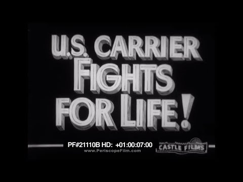 US Carrier Fights for Life - USS Yorktown Battle of the Coral Sea World War II 21110b HD