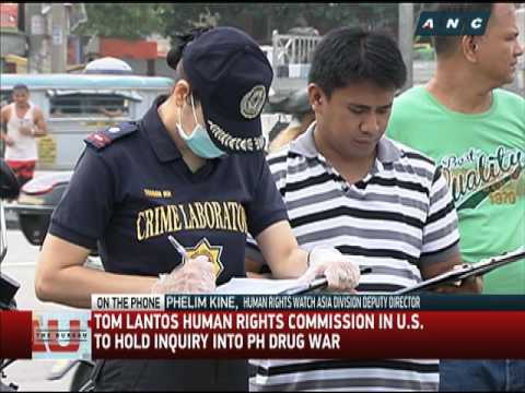 US Congress human rights commission to probe PH drug war