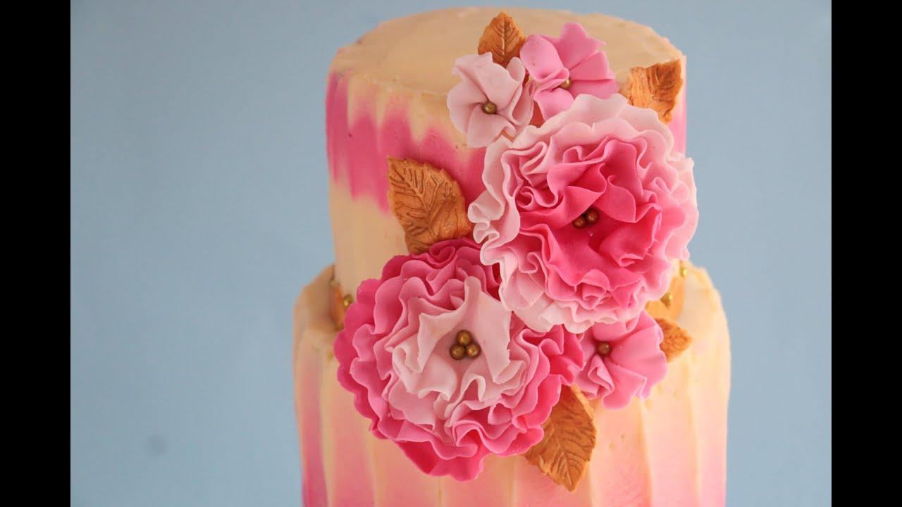 Ruffle Flower Cake Tutorial Rosies Dessert Spot Youtube