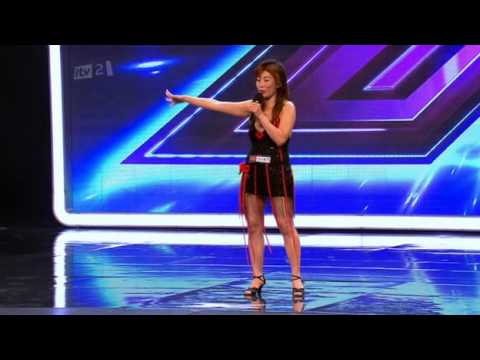 Chinese Lady's Audition On X-Factor UK (iTV2)