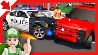 Police chase cartoon für Kinder und Blaze und die Monster-Maschinen - voller Episoden