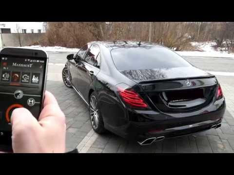 Mercedes Benz S350d W222 V222 with Maxhaust active exhaust and Carlsson bodykit