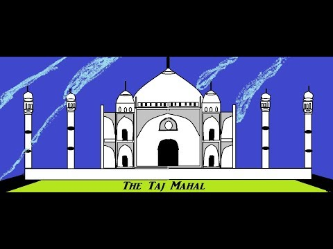How To Draw The Taj Mahal || Taj Mahal Kaise Banega