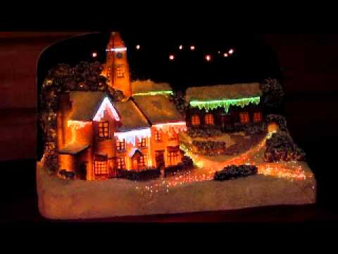 Night Village Christmas Scene