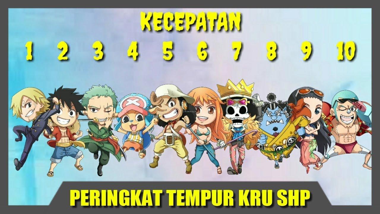 Peringkat Tempur Kru Luffy Bajak Laut Topi Jerami - One Piece - YouTube e19087c098