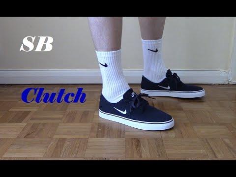 7b45743f8643 Nike SB Clutch Blue and White On Feet - YouTube