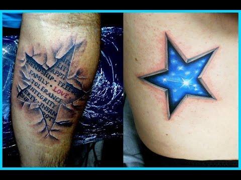 Tatuajes de Estrellas en 3D YouTube
