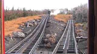 Ride the Mount Washington Cog Railway in late October