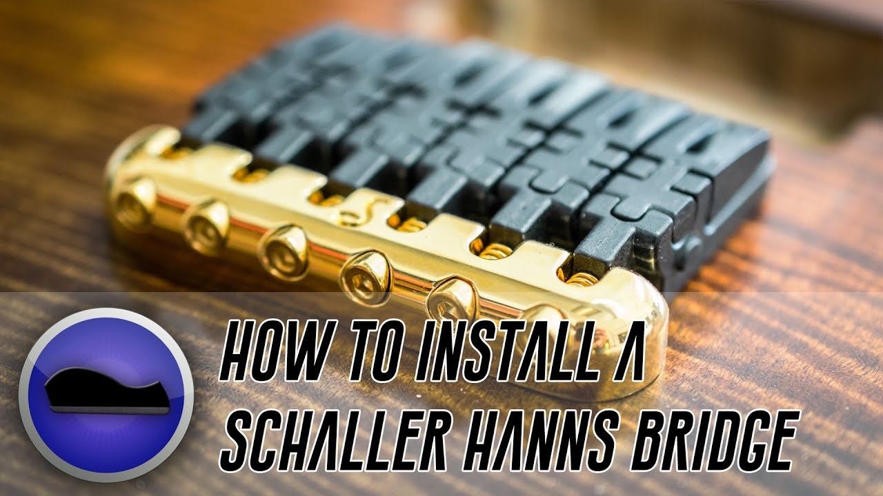 How To Install and Ground A Schaller Hannes Bridge